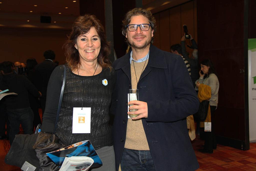 Graciela Salvo y Lucas Carballo.